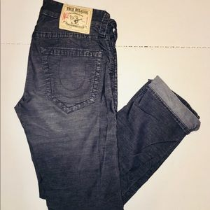 TRUE RELIGION JEANS DENIM DESIGNER SOFT BUTTONS UP